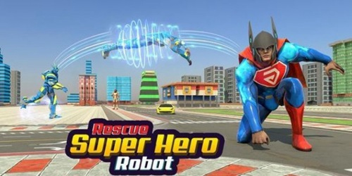 飞行超级英雄机器人救援中文版最新版