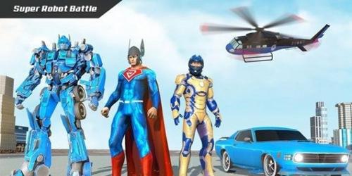 飞行超级英雄机器人救援中文版下载